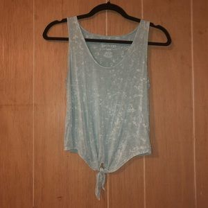 AE Soft & Sexy sea foam green front knotted tank